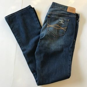 Abercrombie & Fitch distressed medium wash jeans